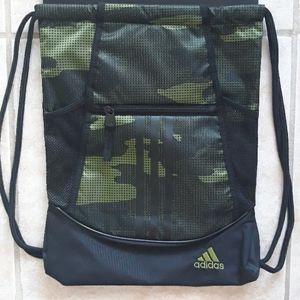 Adidas camo drawstring bag